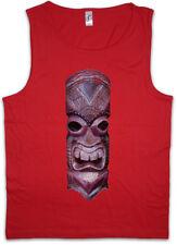 TIKI HEAD III Men Tank Top Hawaii Tattoo Rockabilly Custom Psychobilly Skull