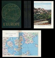 L'Europe Géographie 1957 LAMORLETTE MASSIGLI 2 volumes Héliogravures Cartes