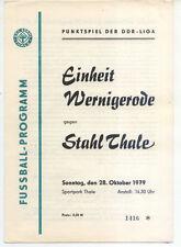 DDR-Liga 79/80 ZEPA acero Thale-BSG unidad Wernigerode (28.10.1979)