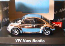 VW VOLKSWAGEN NEW BEETLE CHROME 1997 SCHUCO 04539 1/43 COCCINELLE CHROMED