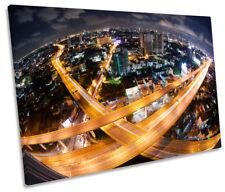 Bangkok Highway City Skyline Picture SINGLE CANVAS WALL ART Print
