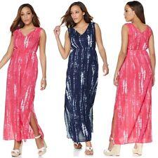 Margaritaville Tie-Dye Gauze Maxi Dress w/Side Slits 473953J (1X,Fuch.) $45.90