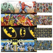 Super heroes Batman Avengers Marvel DC Comics 100% cotton Fabric Material VT