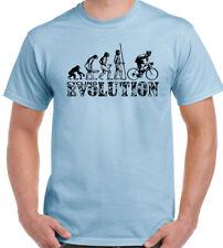 Cycling Evolution T-Shirt Mens Funny Cyclist Bike Bicycle MTB BMX Racer Road