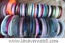 2/5/10/20 m Ruban satin 6 mm couture mercerie couleurs diverses