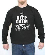 Keep calm and get tattooed Sweater Rockabilly Ink Tattoo Hardcore Punk Anker Fun