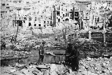 Photo WW2 - Italie 1944 - Brancardiers à Cassino
