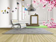 3D Korridor, Schmetterling  Fototapeten Wandbild Fototapete BildTapete Familie