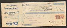 """TOURS (37) FERRURE à SABOT & GALOCHE """"PERRINEAU"""" 1928"""