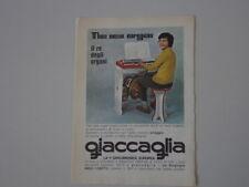 advertising Pubblicità 1971 GIACCAGLIA
