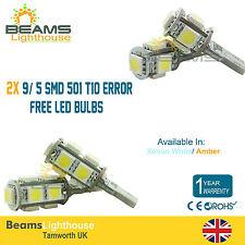 2x 9/ 5 SMD LED BULBS T10 501 XENON WHITE/AMBER BMW 3 Series E30 E36 E46 E90 E92