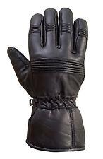 Motorcycle Biker Riding Premium Sheep Leather Winter Gloves Black G7