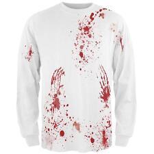 Halloween Blood Splatter All Over Mens Long Sleeve T Shirt