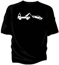 Classic car Breakdown humour t-shirt.  Toyota MR2 Mk1