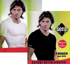 T-shirt, manica corta Uomo scollo V. SENC Art 15 Cotone Antiallergico Bielastico