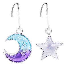 Night symbols Moon Star Two earrings drop dangle unique design women decoration