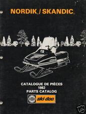 1982 SKI-DOO NORDIK, SKANDIC  SNOWMOBILE  PARTS MANUAL