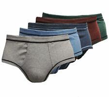 6-12-er Set Herren Slips Melange Baumwolle Unterhose Slip Übergröße G.5-13 S-6XL