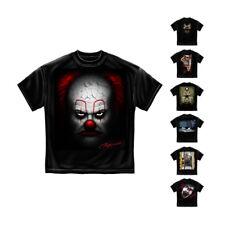 Evil Clown IT Scary Insane Screaming School Bus Class Halloween T-Shirt Unisex