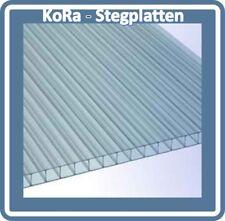 Polycarbonat 2-fach Doppelstegplatten, 1050 mm breit, 10mm, klar, 14,00 Euro/m²