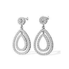 Diamantohrringe aus 585/14K Weißgold mit 2.00 Karat Brillanten + Zertifikat
