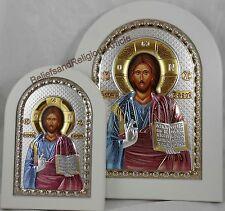 Rare Sterling Silver Gold Jesus Icon Roman Catholic Gift Original Prince Wall