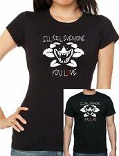 "Women's + Kids inspired UNDERTALE : Flowey ""I'll Kill Everyone You Love"" T-shirt"
