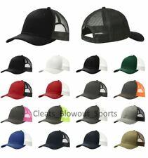 Classic Trucker Hat Snapback Ball Cap Twill Mesh-back Osfa Retro Baseball C 112