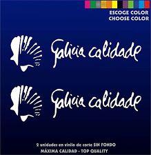 2 X PEGATINAS - STICKER- VINILO - Vinyl - Galicia Calidade -Pegatina -Aufkleber