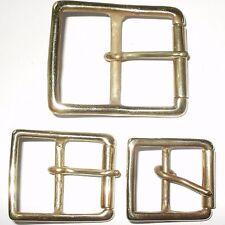 RULLO completo in Ottone Massiccio Stile Militare Cintura Fibbia 50MM - 40MM - 32MM