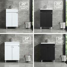 """New 20"""" 24"""" Bathroom Vanity Cabinet Wood Undermount Resin Vessel Sink Modern"""