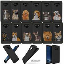 For Samsung Galaxy Note 9, Case Dog Designs Slim Black Flexible Tpu Cover
