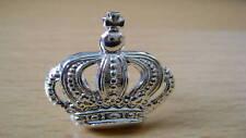 ARGENTO farbende corona-METALLO-emblema con 2 perni