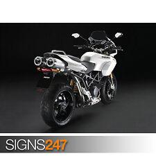 DUCATI NEW PEARL WHITE LIVERY (1567) Motorbike Poster - Photo Poster Print Art