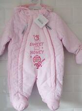 """Baby Girl """" Sweet as honey """" Snow Suit / Pramsuit / Coat - Pink"""