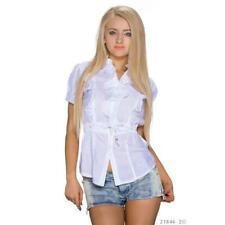 Elegante volantes blusa con manga corta Weiss #bl190