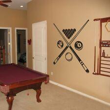 Motivation Billiard Removable Wall Decal Sports Shop Room Home Vinyl Art Decor
