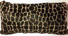 Fur Pillow Real  Dyed Giraffe Animal Print Sheared Rabbit  made in usa cushion
