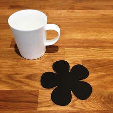Daisy Shaped Coaster Set - Mocha Brown