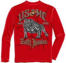 Erazor Bits Apparel Long Sleeve T-Shirt USMC Marine Corps Teufel Hunden Red
