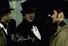 Stephen Fry GENUINE HAND SIGNED Autograph Sherlock Movie 12x8 Photo AFTAL COA