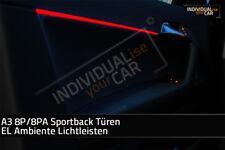 EL Ambiente Lichtleiste Ambientebeleuchtung für Audi A3 8P/8PA Sportback  -  ...