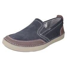 Clarks hombre azul de ante Sin Cordones Informal Ligero Zapatos Mocasín gosler