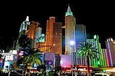 New York New York Hotel Las Vegas America photograph picture poster art print