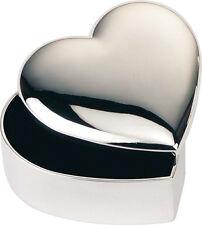 ENGRAVED SILVER DESIGNER HEART JEWELLERY TRINKET BOX