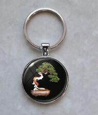 Bonsai Tree Japanese Art Culture Nature contemplation effort ingenuity Keychain