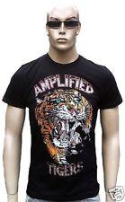 Amplified Último rock star VIP TATTOO TIGRE CRYSTAL pedrería strass Camiseta M
