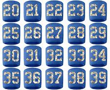 #20-39 Number Sweatband Wristband Football Baseball Basketball Royal Blue Money