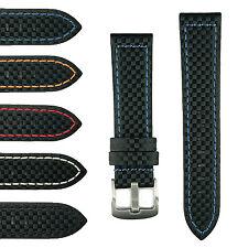 B & R Bands Carbon Fiber Watch Band Strap 20mm 22mm 24mm