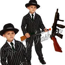 1920s CHICOS CHILDS Gangster Mafia Gangsta Bugsy Malone Vestido de fantasía Traje de Disfraz